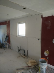 Boarding Kitchen/Dining Room Walls in Burlington